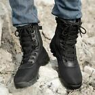 Mens lace up Army Boots Climb Desert Shoes Outdoor Combat Camouflage shoes