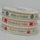 Made in Scotland, England, Wales or Ireland grosgrain ribbon 16mm per 2 metres