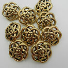 5x celtic knot buttons gold coloured sizes 22mm or 25mm STYLE 2