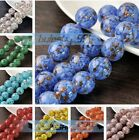 5pcs 12~20mm Big Round Lampwork Glass Charms Loose Spacer Beads Jewelry Findings
