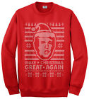 Threadrock Men's Donald Trump Ugly Christmas Sweater Sweatshirt