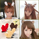 Women Cute Rabbit Deer Cat Leopard Ear Christmas Hair Clip Cosplay Party Hot
