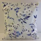 PRETTY SHABBY CHIC-STYLE FLORAL CUSHION COVERS LILAC PURPLE BLUE PALE GREY