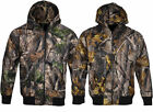 Mens Jungle Camouflage Army Water Resistant Fleece Coat Jacket Fishing Hunting