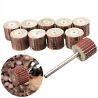 10× Flap Wheel Disc Shaft Abrasive Sanding Drill Polish tools For Dremel Rotary