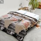 Vintage Style Blanket Flannel Single/Double/Queen Size Bed Linen Lush Soft Warm