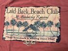 """LAID BACK T SHIRT BEACH CLUB """"NO MEMBERSHIP REQUIRED""""YOU'RE HAMMOCK IS WAITING"""""""