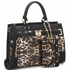Women Handbags Faux Leather Work Padlock Satchel Tote Bag Purse with Wallet