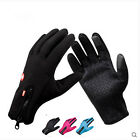Windproof Waterproof Touch Screen Warm Glove Mittens Fleece Outdoor Black/Blue