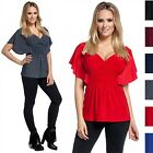 Glamour Empire. Women's Silky Top V-Neckline Empire Waist Batwing Sleeves. 162