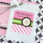 72 Personalized Pink Owl Theme Lemonade Mix Pouches Baby ...