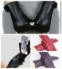 Womens Gloves Faux Leather Winter Warm Touch Screen Ladies Charm Mittens