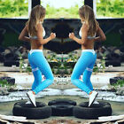 Womens Sports Gym Yoga Workout Mesh Leggings Fitness Leotards Athletic Pants