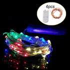 2/6 Pcs LED Copper Wire Starry String Lights Home Outdoor Christmas Decoration