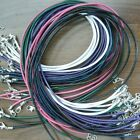 """High Quality 16""""-20"""" Mix Colors Leather Necklace 2mm Lobster clasp 10/50/100pcs"""