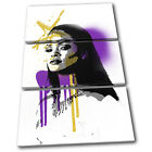 Rihanna Singer Grunge Urban Musical TREBLE CANVAS WALL ART Picture Print