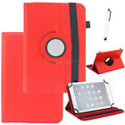 "360 Rotating PU Leather Stand Case Cover For 9.7"" 10"" 10.1"" inch Tablet+Pen Gift"
