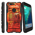 For Google Pixel XL Holster Clip Stand Case Black Red Hearts
