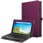 "Folio Case PU Leather Stand Cover for RCA 10 Viking Pro / Viking II 10.1"" Tablet"