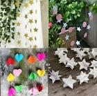 Colourful Paper Garland Kids Room Circular Star Multi Style 2M Hanging Decor