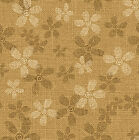 SUNDAY FLOWER BEIGE DASY FLORAL QUILT SEWING FABRIC Free Oz Post