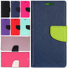 For Samsung Galaxy Luna Leather 2 Tone Wallet Pouch Flip Cover + Screen Guard