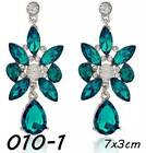 New 1 Pair Elegant Women Crystal Rhinestone Ear Stud Fashion Earrings Chain <br/> 110 Styles Extra 10% OFF  When you spend $15+