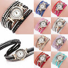 CHIC New Women Watch Bracelet Crystal Leather Dress Analog Quartz Wrist Watches