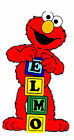"2.5-6"" SESAME STREET ELMO BLOCKS CHARACTER  CUSTOM  HEAT TRANSFER IRON ON"