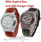 Men's Military USB Cigarette Lighter Watch Cigar Lighter Wristwatches Windproof