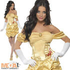Princess Belle Ladies Fairytale Fancy Dress Adult Costume Womens Outfit UK 8-18