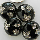 per button beautiful black metal domed diamante buttons 15mm 20mm & 24mm