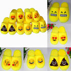 Cute Men Women Emoji Expression Slippers Winter Warm Pajamas Home Indoor Shoes K