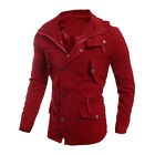 Fashion Men&#039;s Military Casual Jacket Warm Winter Coat Slim Fit Outwear Overcoat <br/> US Stock &amp;Fast USPS Shipping&amp;Father Gift