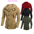 Fashion Men's Military Casual Jacket Warm Winter Coat Slim Fit Outwear Overcoat