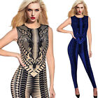 Women Sexy Geometry High Waist Cool Chic Romper Party Club Bodycon Jumpsuit 4547