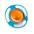 Baby Kid Feeding Bowl 360 degree Rotate Children Spill-Proof Food Dish 2 Colors