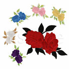 Two Roses Iron On Embroidered Applique Patch Motif Garment Decoration Craft New