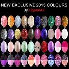 CRYSTAL-G LONDON NEW & EXCLUSIVE COLOR CHANGE + GLITTERS GEL NAIL POLISH