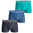 Bjorn Borg 2017 Mens BB Check 3 Pack Boxer Briefs Stretch Fitted Underwear