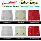 Choose Your Color & Size - Christmas Tablecloth Topper - 88cm x 88cm
