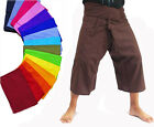 3/4 Length Fisherman Pants Troussers Unisex Yoga Kung Fu Rayon Cotton Free Size