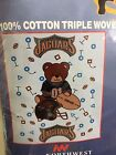 NWT VINTAGE JACKSONVILLE JAGUARS BABY TRIPLE WOVEN JACQUARD BLANKET WITH BEAR on eBay