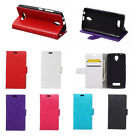 6 colours Leather Folio Wallet Case Cover Pouch For ZTE Mobile Phones 01