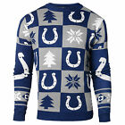 NFL UGLY SWEATER Pullover Christmas Style INDIANAPOLIS COLTS Patches Football