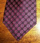 RALPH LAUREN Skinny Silk Tie Geometric Dot Black Pink NEW Free Shipping