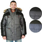 Canada Weather Gear Men's Faux Down Goose Heavy Weight Parka Winter Jacket Coat