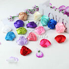 4 CM Satin Rose Buds Flowers Heads For DIY Baby Headbands Hair Accessories Decor