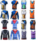 Dragon Ball Z Compression Workout T-shirt Cosplay Anime Cycling Jersey Costume