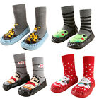 Cute Baby Kids Toddler Girl Boy Anti-slip Shoes Boots Slipper Socks Cartoon BKB